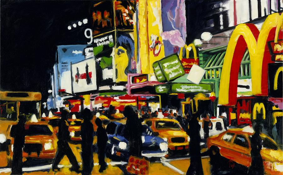 New York Painting - NYC II The Temple of M by Robert Reeves