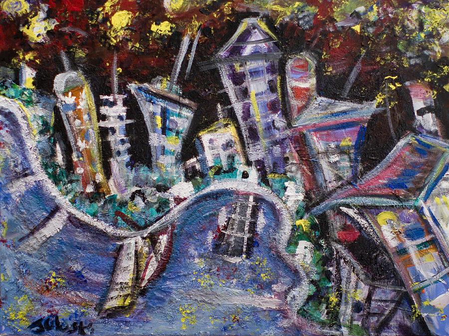 Nyc Impressions 2 Painting by Jason Gluskin