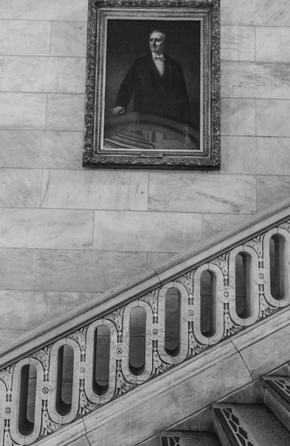 New York Photograph   Nyc Library Painting And Stairs By John McGraw