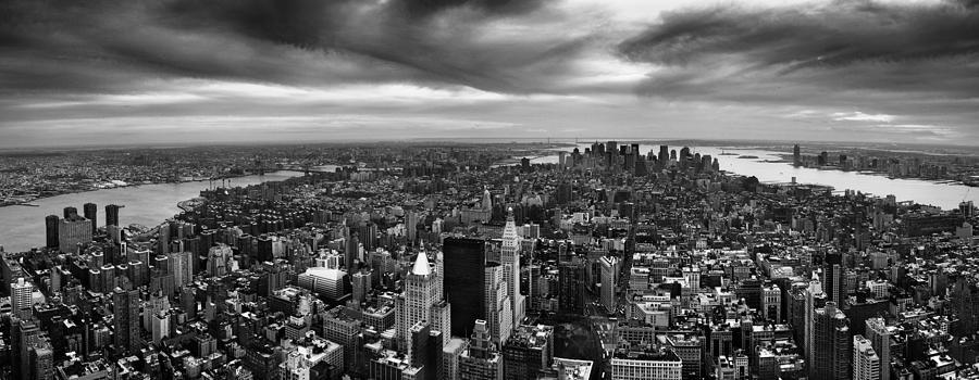 Nyc Photograph - Nyc Manhattan Panorama by Nina Papiorek