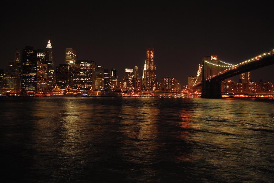 Nyc Photograph - Nyc Night by Maria Lopez