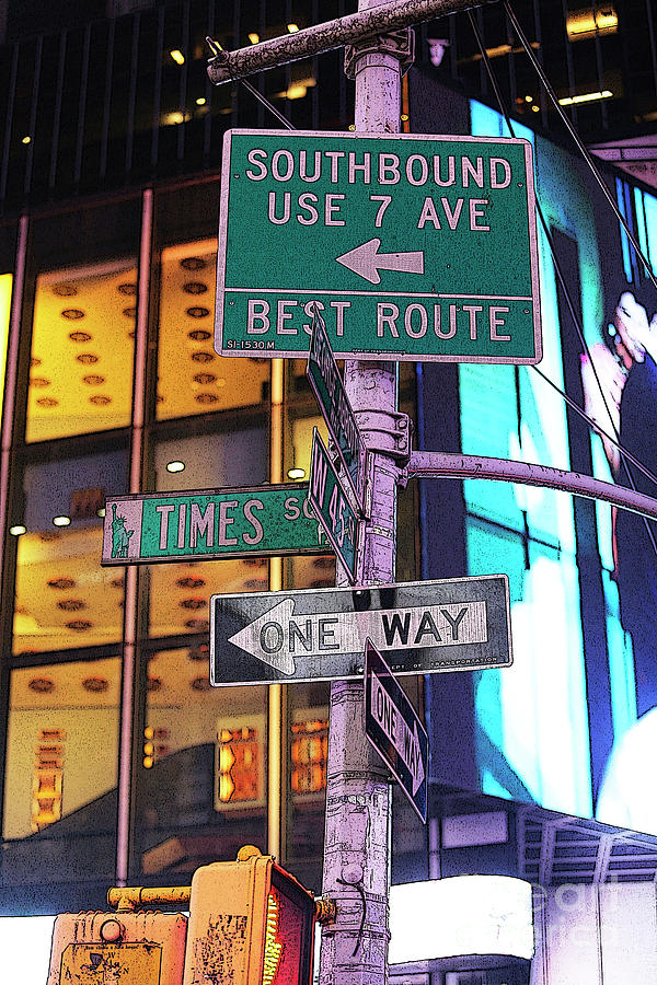 NYC Street Sign by Kate Purdy