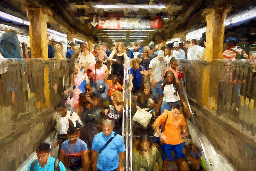 General View Digital Art - Nyc Subway by Matthew Ashton