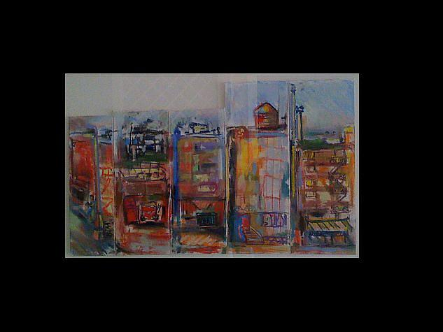 City Pastel - Nyc Watertower by Denise Katz