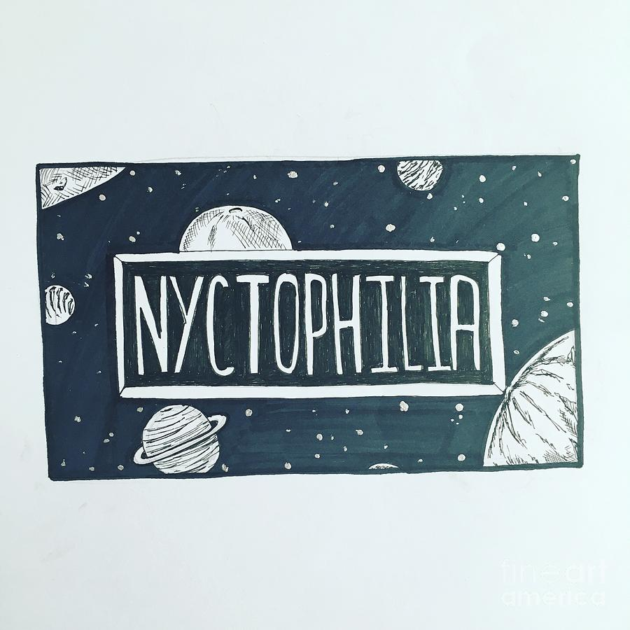 Nyctophilia Drawing By Shelby Lorimer