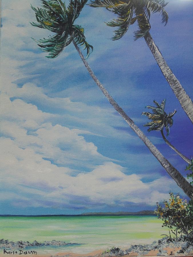 Sea Painting - Nylon Pool Tobago. by Karin  Dawn Kelshall- Best