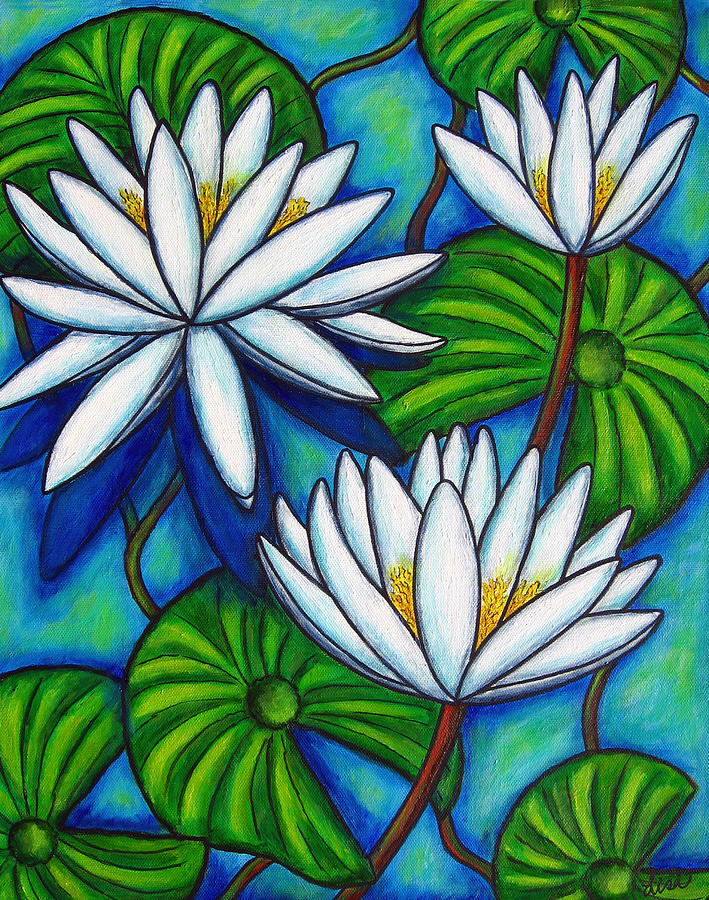 Lily Painting - Nymphaea Blue by Lisa  Lorenz