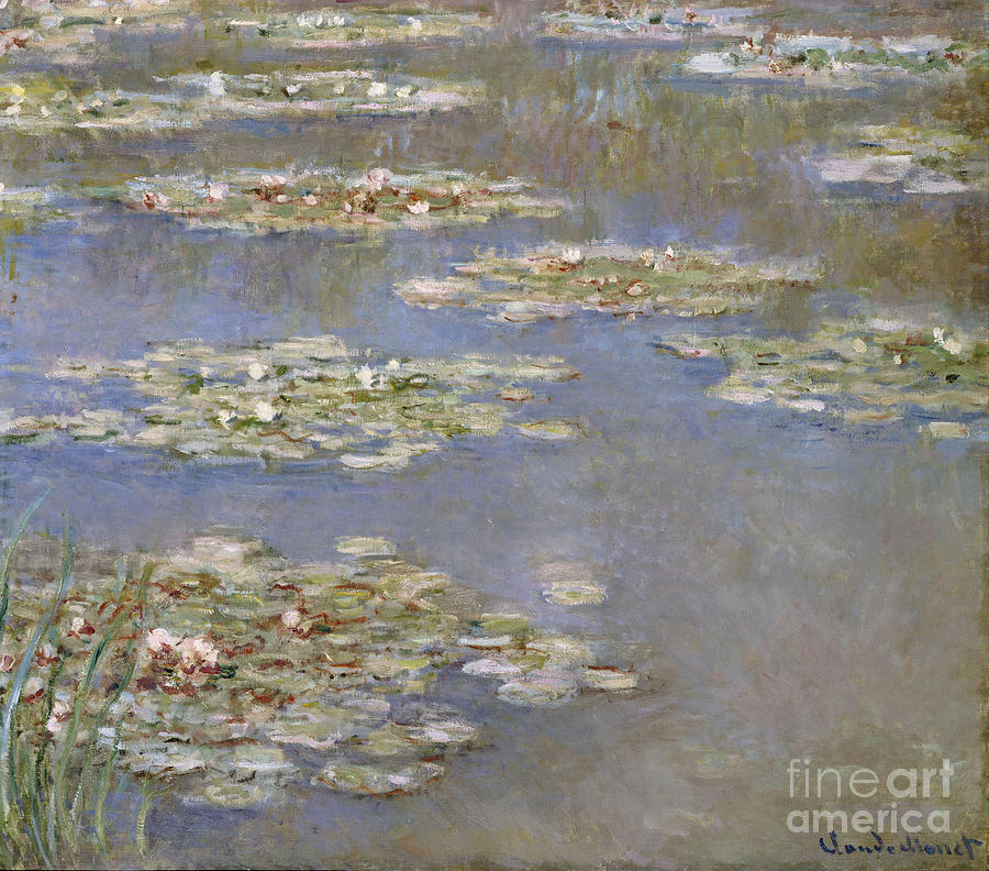 French Painting - Nympheas by Claude Monet