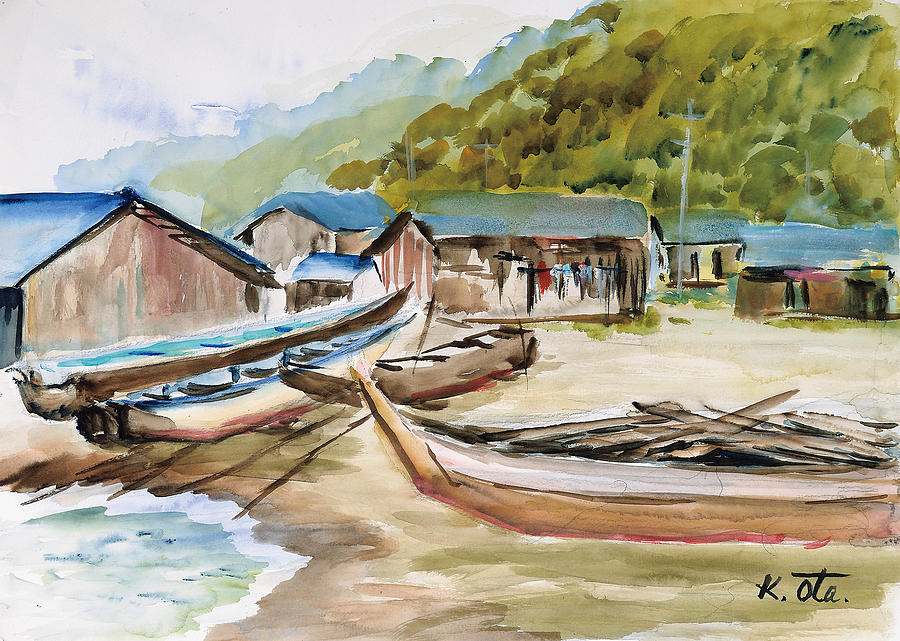 Japanese Painting - Nyuunoura01 by Ota Kiyoko