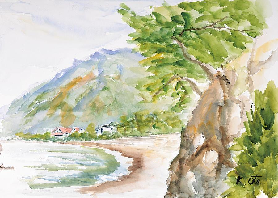 Japanese Painting - Nyuunoura02 by Kiyoko Ota