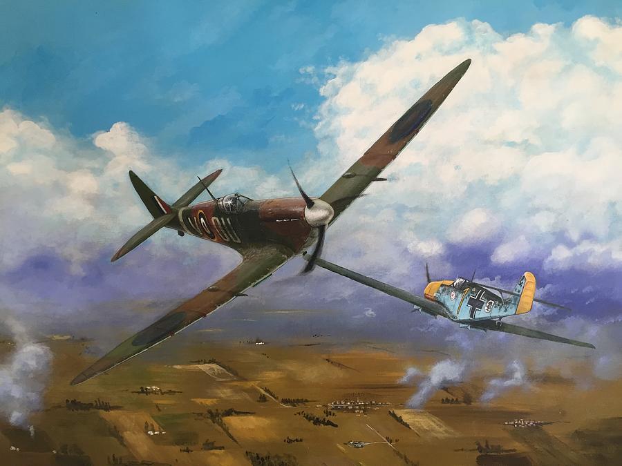 Nz Spitfire Sqd Painting