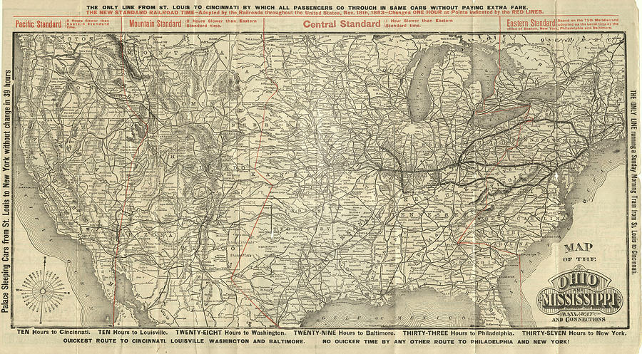O and M Map by Baltimore Ohio Railroad