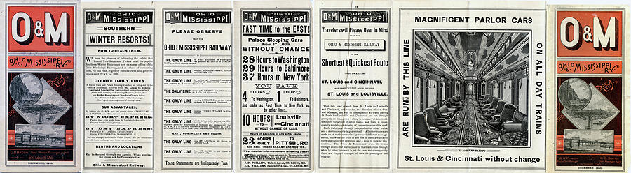 Ohio Drawing - O And M Timetable by Baltimore Ohio Railroad