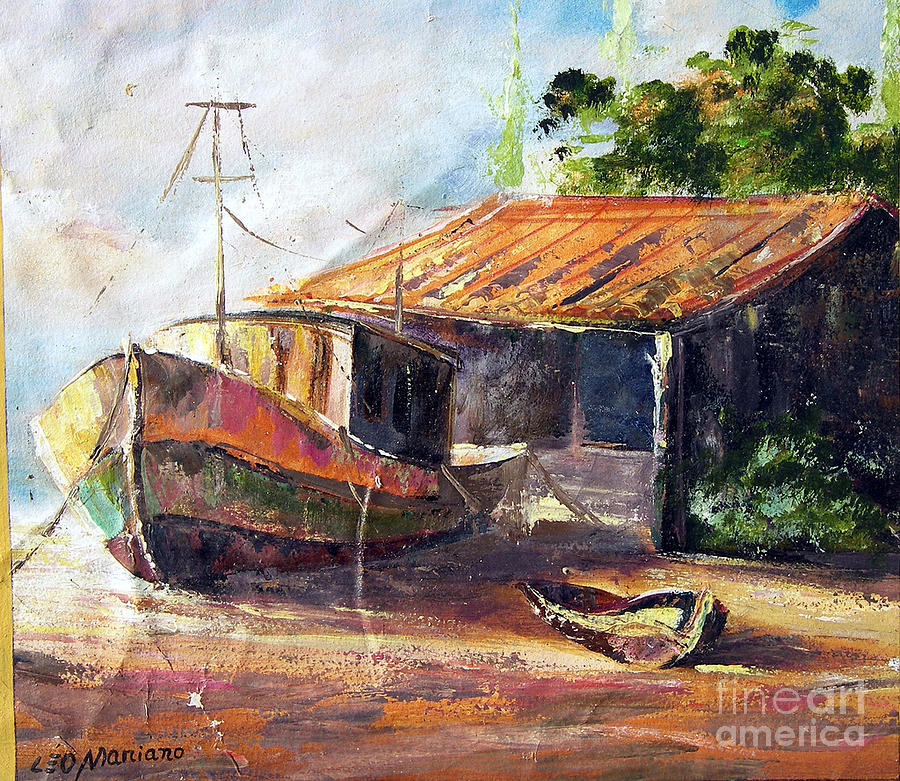 O Barco Painting by Leomariano artist BRASIL