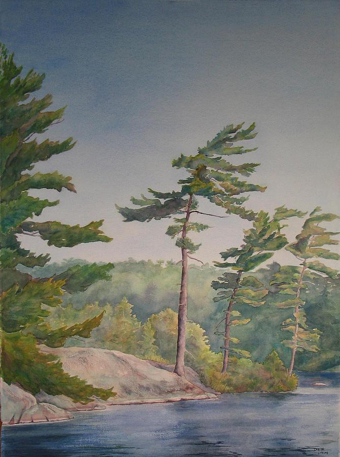 Lake Painting - O Canada No.1 by Debbie Homewood