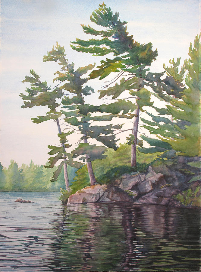 Rocks Painting - O Canada No.2 by Debbie Homewood