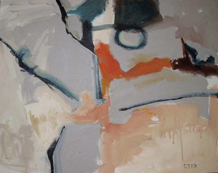 Abstraction Painting - O by Charlie Spear