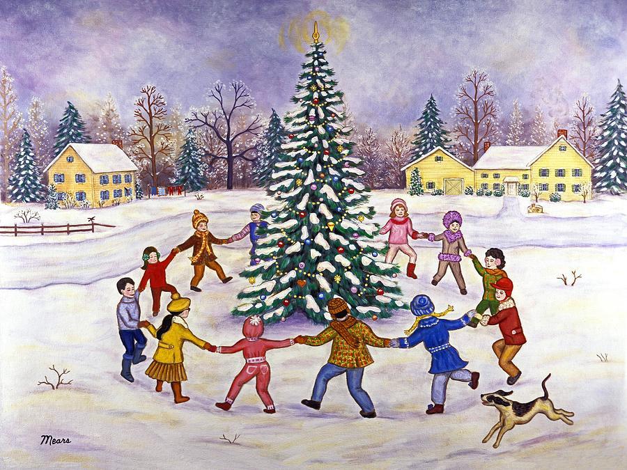 Christmas Painting - O Christmas Tree by Linda Mears