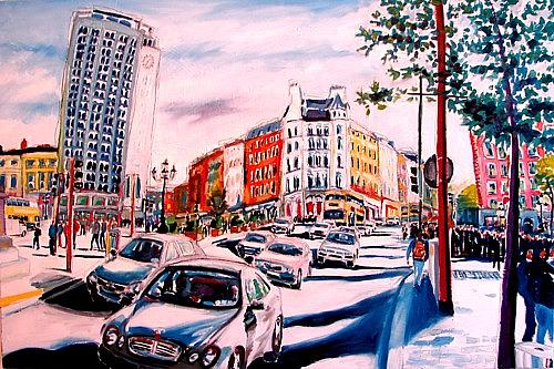 Dublin Painting - O Connell Bridge by Caoimhghin OCroidheain