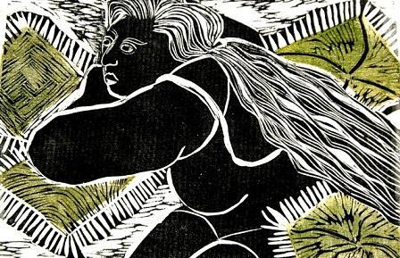 Woman Mixed Media - O Descanso by Maria Lucia Pacheco