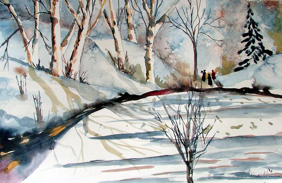 Winter Painting - O Holy Night by Mindy Newman