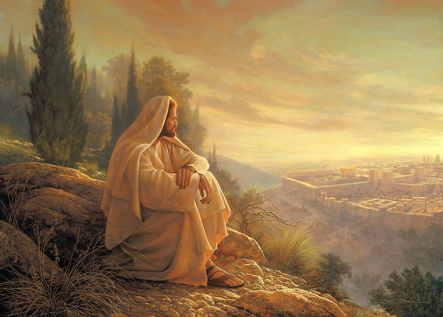 Esus Painting - O Jerusalem by Greg Olsen