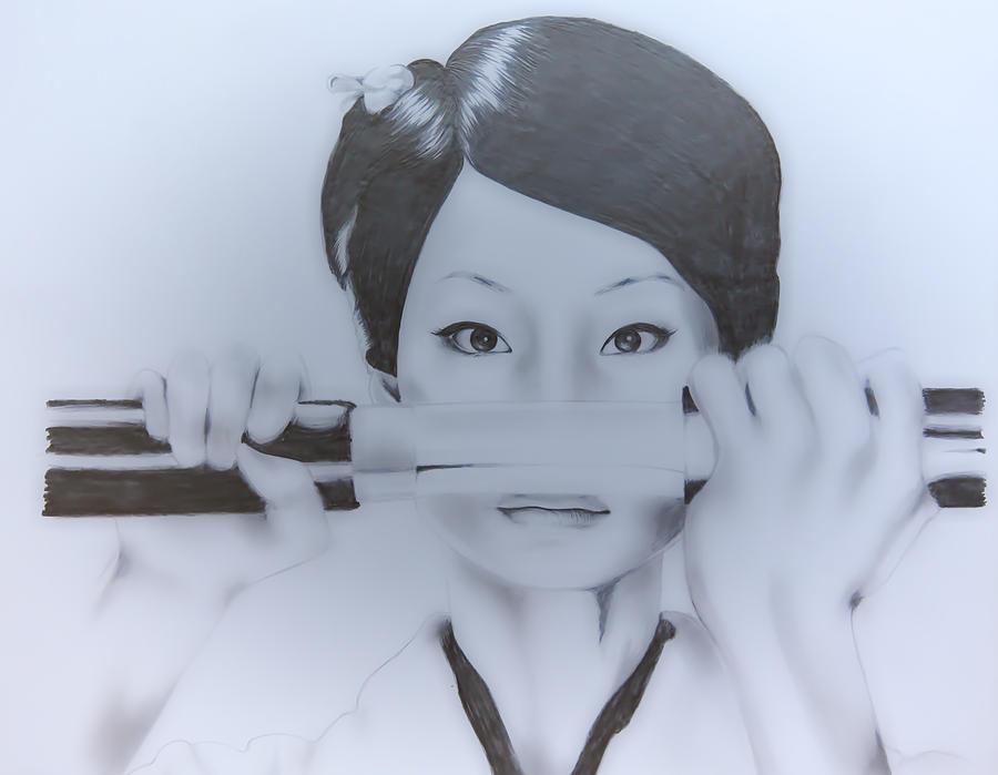 O Ren Ishii Drawing By Sarah Murabito