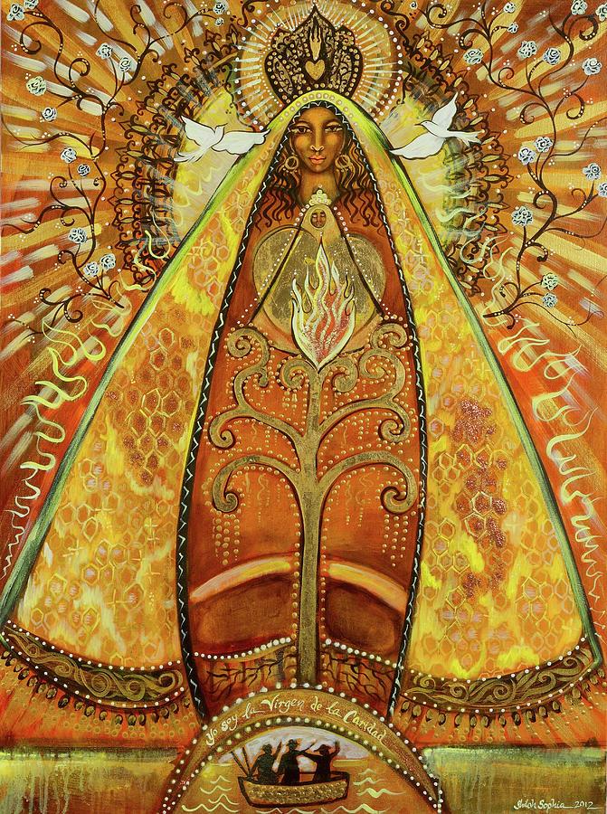 Divine Feminine Painting - Yo Soy Virgin de La Caridad by Shiloh Sophia McCloud