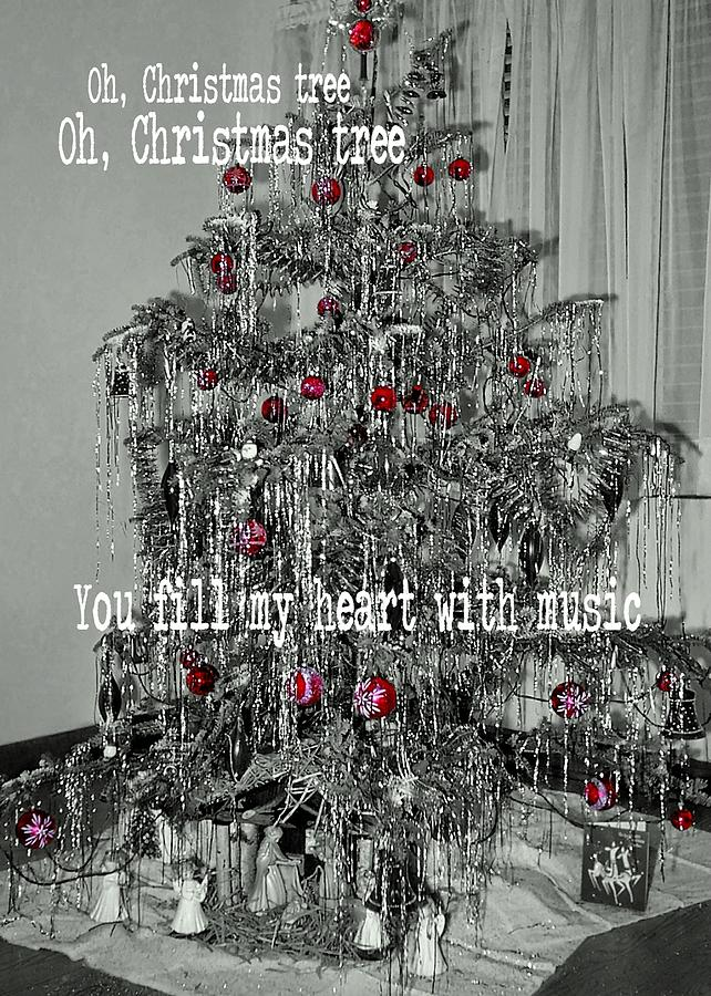Tree Photograph - O Tannenbaum Quote by JAMART Photography