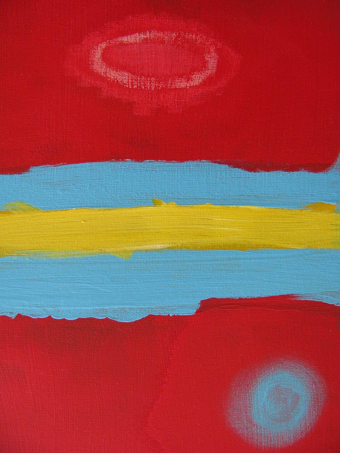 Red Painting - O Z One by Lindie Racz