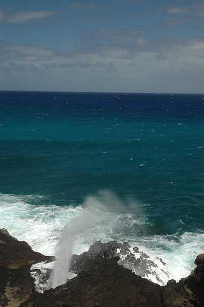 Ocean Photograph - Oahu Blowhole Hawaii by Adrian Brown