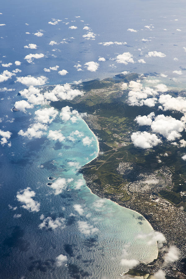 Aerial Photograph - Oahu From Above by Bryan Toro
