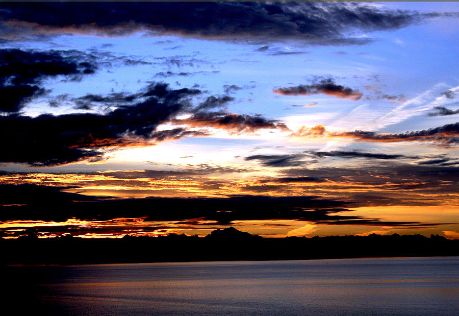 Sunrise Photograph - Oak Harbor Sunrise Sr 1002 by Mary Gaines