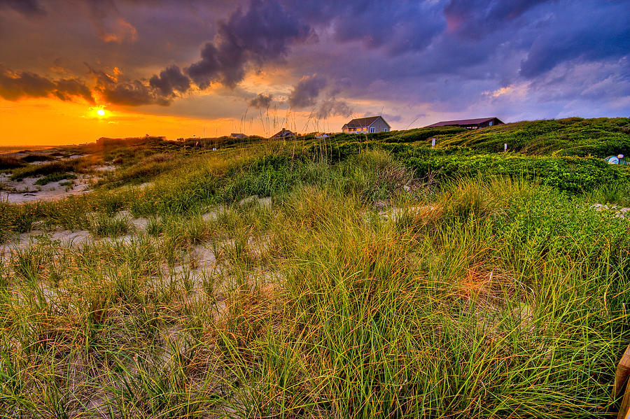 Oak Island Sunset by Ches Black