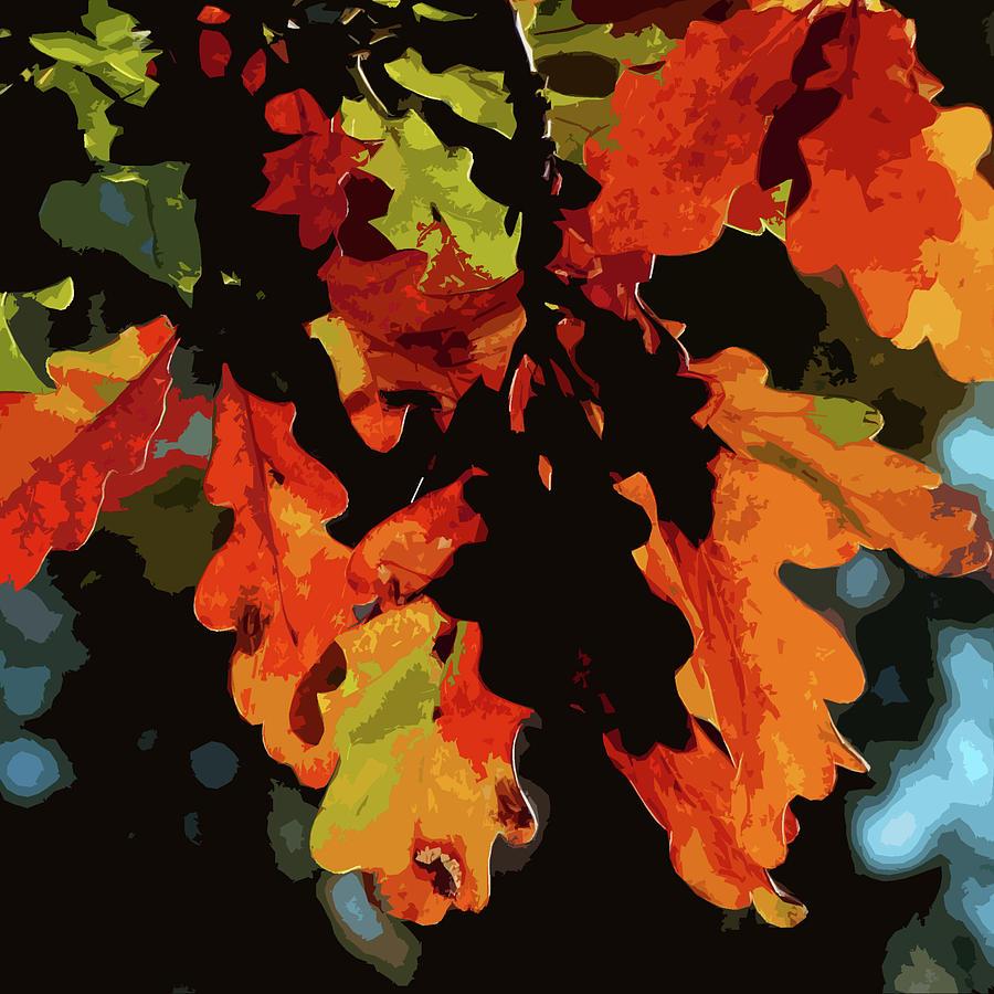 Oak Leaves Photograph - Oak Leaves In Autumn by James Hill
