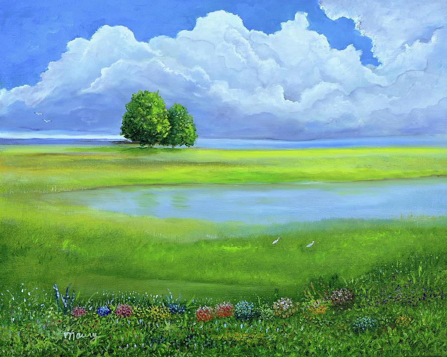 Oak Near The Lake by Alicia Maury