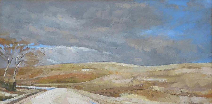 Landscape Painting - Oak Savanna, Fall Storm by Kim Gordon