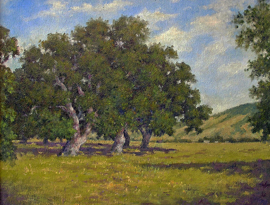 Oaks Painting - Oaks by Marv Anderson