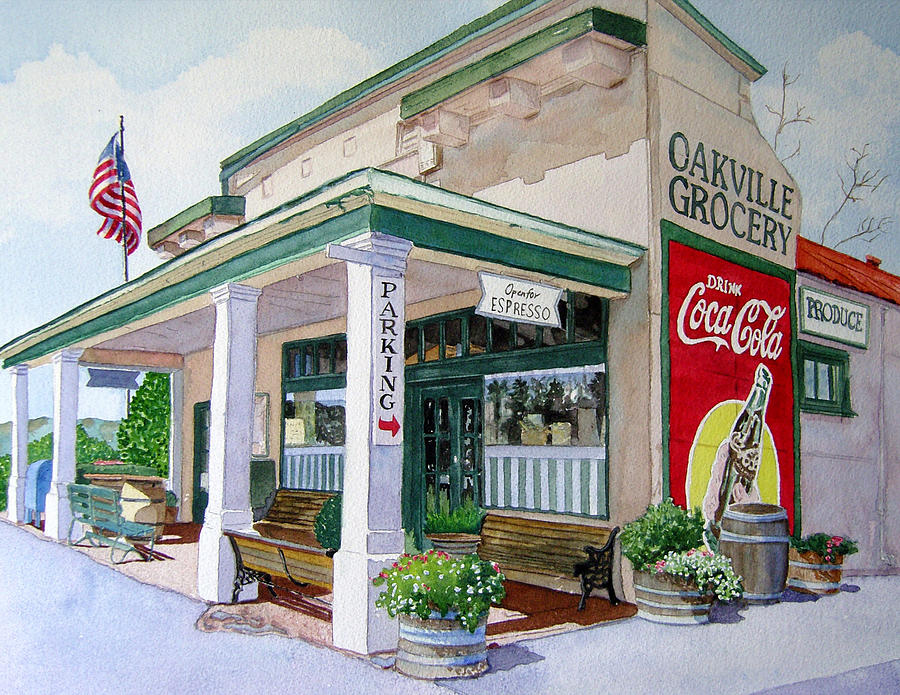 Cityscape Painting - Oakville Grocery by Gail Chandler