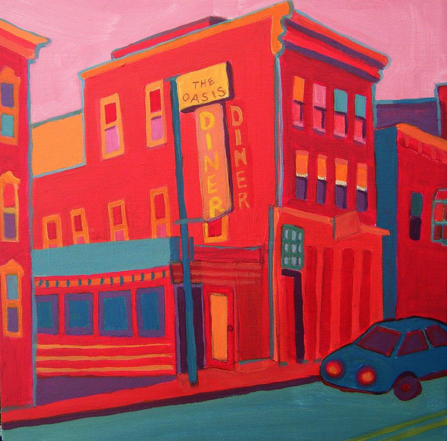 Diner Painting - Oasis Diner Burlington VT by Debra Bretton Robinson