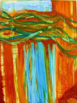 Abstract Painting - Oasis by Rae Chichilnitsky