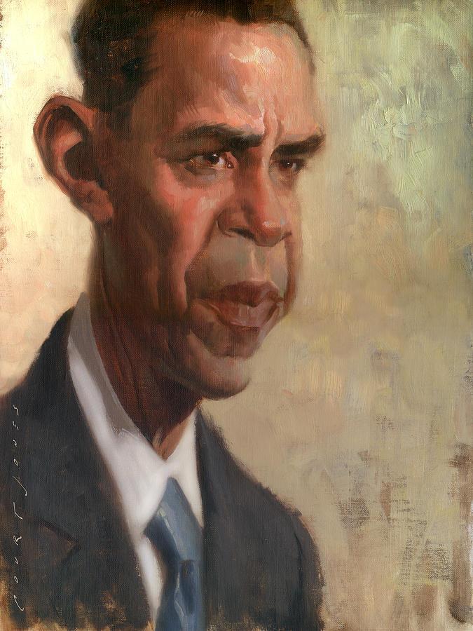 Barack Obama Painting - Obama by Court Jones