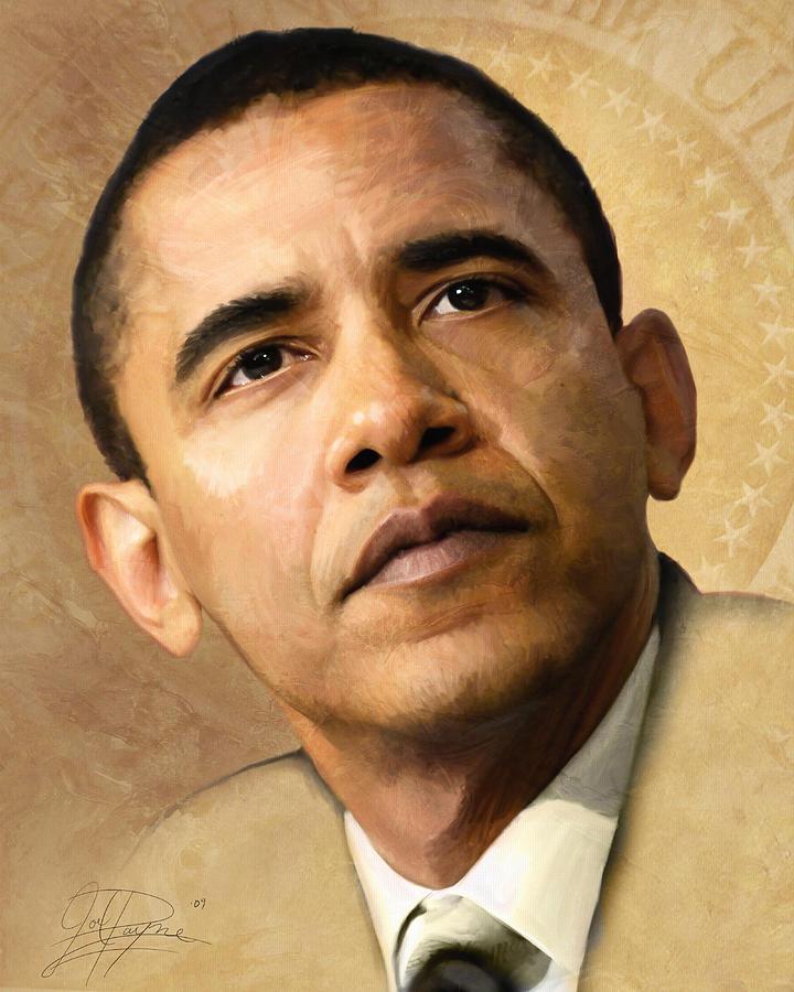 Obama Painting - Obama by Joel Payne