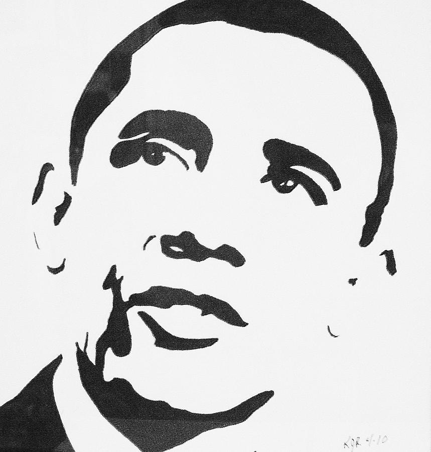 Barak Obama Drawing - Obama by Kenneth Regan