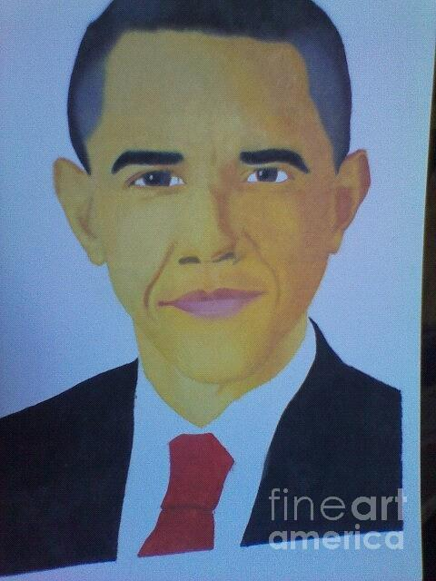 Obama Paintings Painting by Washington Magua