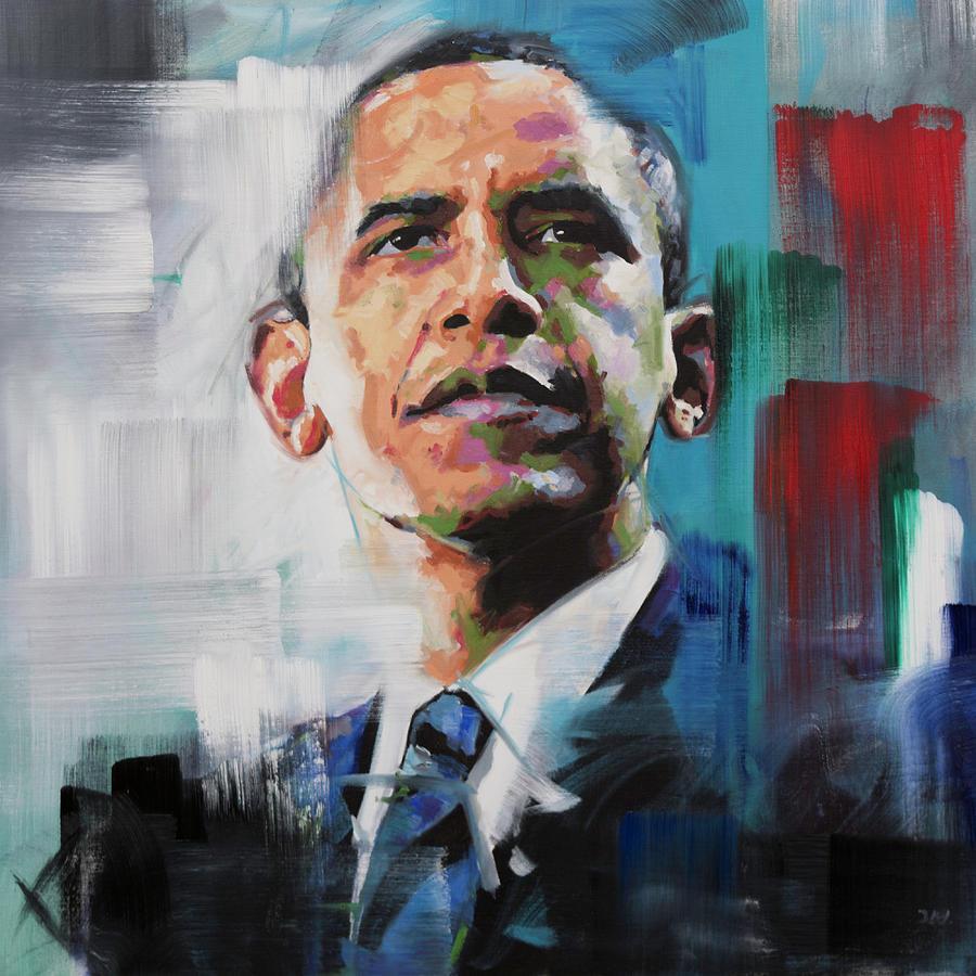 Barack Painting - Obama by Richard Day