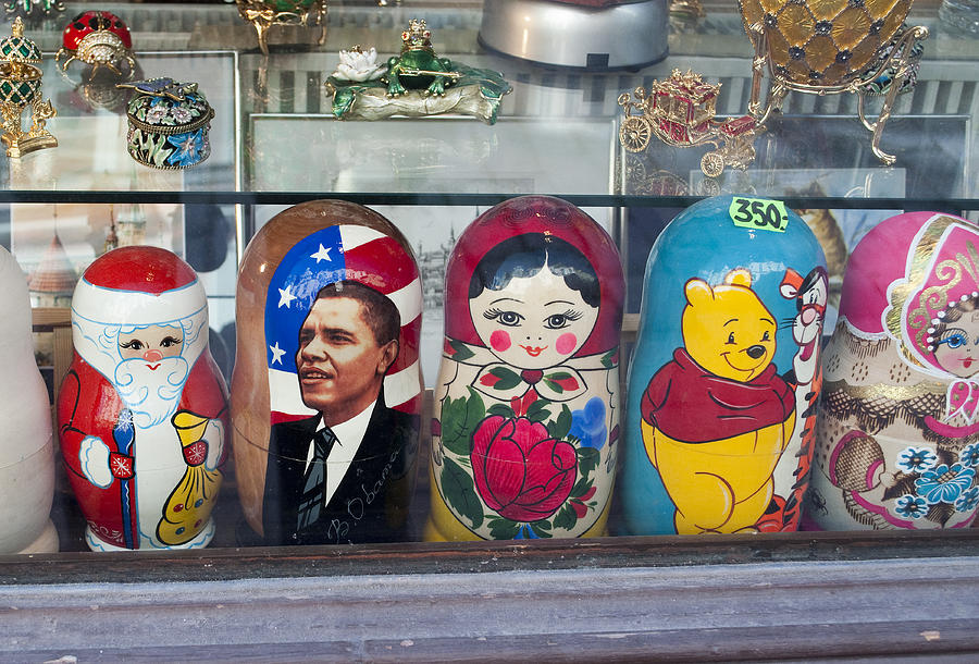 Dolls Photograph - Obama Russian Doll 0183 by Charles  Ridgway
