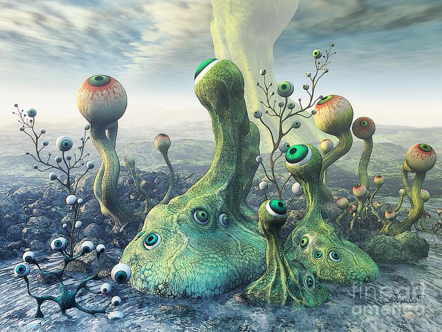 3d Digital Art - Observation by Jutta Maria Pusl