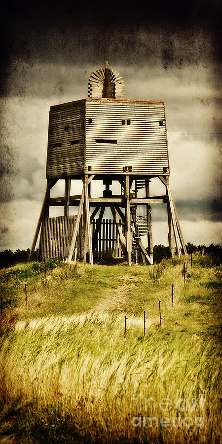 Wadden Sea National Park Photograph - Observation Tower by Angela Doelling AD DESIGN Photo and PhotoArt