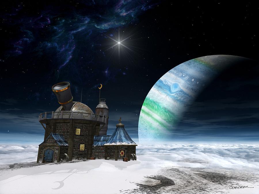 Space Digital Art - Observatory by Cynthia Decker